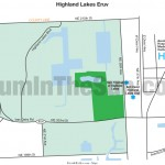 Map of Highland Lakes Eruv