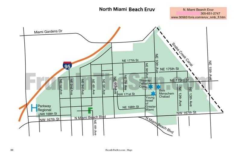 north miami beach eruv map